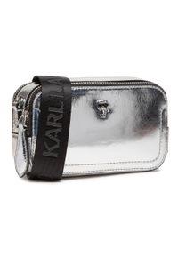 Karl Lagerfeld - Torebka KARL LAGERFELD - 210W3077 Silver. Kolor: srebrny. Materiał: skórzane. Styl: wizytowy