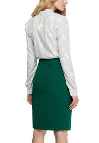Style - Ołówkowa spódnica midi z zakładką z przodu. Okazja: do pracy. Materiał: materiał, elastan. Styl: klasyczny
