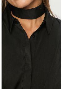 Czarna koszula Guess Jeans z długim rękawem, klasyczna, długa