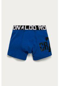 Niebieskie majtki Cristiano Ronaldo CR7 z nadrukiem
