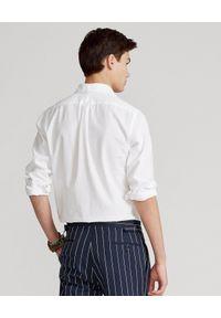 Ralph Lauren - RALPH LAUREN - Biała koszula Slim Fit Dobby. Typ kołnierza: polo. Kolor: biały. Materiał: bawełna. Wzór: haft