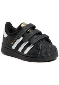 Czarne półbuty Adidas z cholewką, na rzepy, na spacer