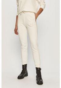 Białe spodnie dresowe Pinko