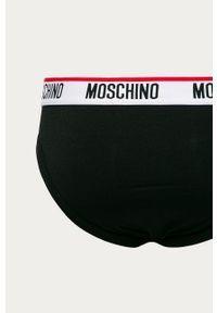 Czarne majtki Moschino Underwear z nadrukiem
