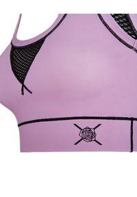 REDEMPTION ATHLETIX - Fioletowy top z nylonu. Kolor: różowy, fioletowy, wielokolorowy. Materiał: nylon. Styl: sportowy