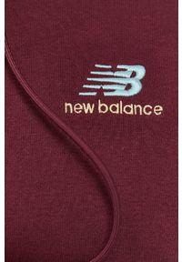 New Balance - Bluza. Kolor: fioletowy. Materiał: dzianina. Wzór: gładki