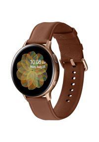 Złoty zegarek SAMSUNG smartwatch, elegancki