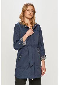 Niebieska kurtka Cross Jeans gładkie, z kapturem