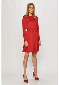 Czerwona sukienka Vila mini, z długim rękawem