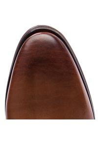 Brązowe buty zimowe JOOP! eleganckie, z cholewką