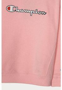 Różowa bluza Champion z aplikacjami, bez kaptura