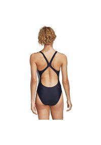 Adidas - Strój kąpielowy adidas Fitness Suit 3-Stripes FI4638. Materiał: nylon, dzianina, materiał, elastan. Wzór: aplikacja