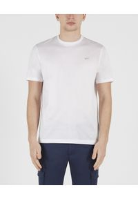 PAUL & SHARK - Biały bawełniany T-shirt z logo. Kolor: biały. Materiał: bawełna. Wzór: nadruk. Styl: klasyczny, sportowy