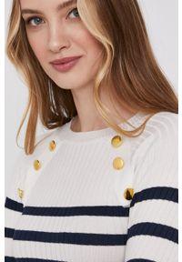 Biały sweter Answear Lab długi, wakacyjny, z długim rękawem