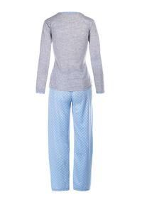 Niebiesko-Szary Komplet Piżamowy Yamare