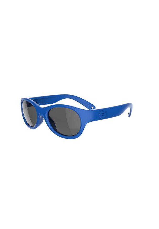 quechua - Okulary przeciwsłoneczne turystyczne - MH K100 - dla dzieci 2 - 4 lat - kat. 3. Kolor: niebieski