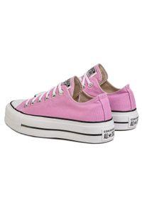Różowe buty sportowe Converse na co dzień, z cholewką