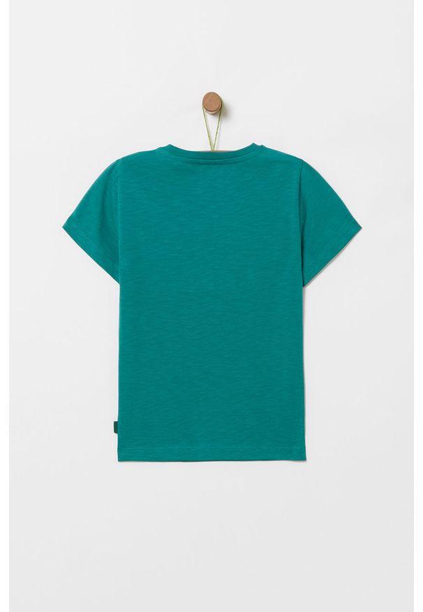 Zielony t-shirt OVS casualowy, na co dzień
