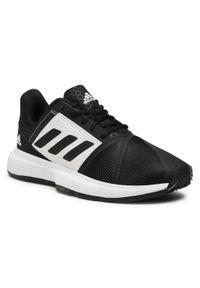 Adidas - Buty adidas - CourtJam Bounce M Clay FX1497 Cblack/Ftwwht/Cblack. Kolor: czarny. Materiał: materiał