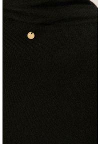 Czarny sweter Silvian Heach na co dzień, krótki, casualowy
