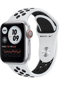 APPLE - Smartwatch Apple Watch Series 6 Nike GPS + Cellular 40mm Silver Alu White Sport Biały (M07C3FD/A). Rodzaj zegarka: smartwatch. Kolor: biały. Styl: sportowy