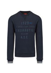 Aeronautica Militare - Bluza AERONAUTICA MILITARE. Materiał: bawełna, materiał, prążkowany. Wzór: prążki, nadruk. Styl: sportowy