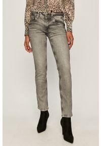 Szare proste jeansy Pepe Jeans w kolorowe wzory
