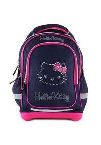 Niebieski plecak Hello Kitty z motywem z bajki