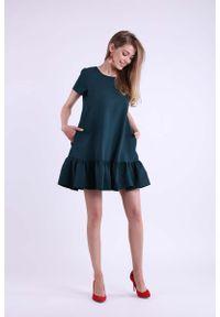 Zielona sukienka wizytowa Nommo mini