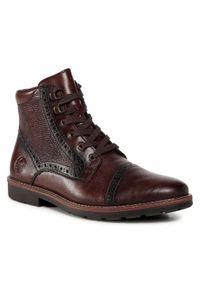 Brązowe buty zimowe Rieker casualowe, na co dzień