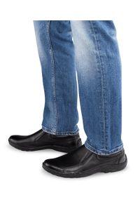 ESCOTT - Mokasyny męskie Escott 1139 Czarne. Zapięcie: bez zapięcia. Kolor: czarny. Materiał: tworzywo sztuczne, skóra. Obcas: na obcasie. Styl: elegancki. Wysokość obcasa: niski