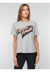 Emporio Armani T-Shirt 6G2T6A 2JQAZ 0616 Szary Regular Fit. Kolor: szary