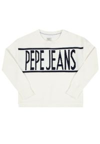 Biały sweter Pepe Jeans