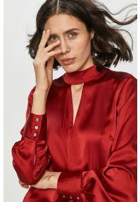 Czerwona bluzka DKNY casualowa, na co dzień, gładkie