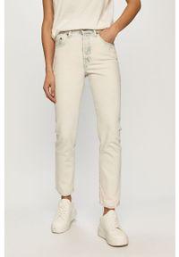 Niebieskie proste jeansy Levi's® na spotkanie biznesowe, z podwyższonym stanem