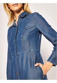 Niebieska sukienka Pennyblack koszulowa