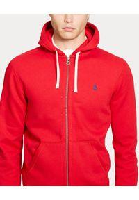 Ralph Lauren - RALPH LAUREN - Czerwona bluza z kapturem. Typ kołnierza: kaptur. Kolor: czerwony. Materiał: poliester, dresówka, bawełna, materiał. Długość rękawa: długi rękaw. Długość: długie. Wzór: haft. Styl: elegancki