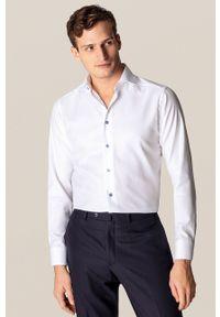 Eton - ETON - Koszula. Typ kołnierza: kołnierzyk klasyczny. Kolor: biały. Materiał: tkanina. Długość rękawa: długi rękaw. Długość: długie. Wzór: gładki. Styl: klasyczny