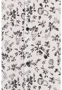 Biała koszula medicine na co dzień, w kwiaty, casualowa