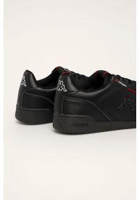 Czarne sneakersy Kappa z cholewką, na sznurówki