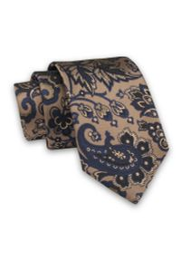 Niebieski krawat Alties elegancki, paisley
