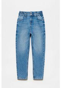 Niebieskie jeansy OVS z podwyższonym stanem