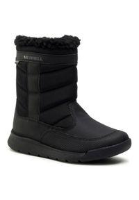 Czarne buty zimowe Merrell na spacer