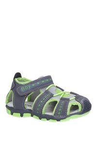 Casu - szare sandały na rzep casu y106b. Zapięcie: rzepy. Kolor: szary