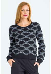 Sweter Emporio Armani krótki, na spacer, z długim rękawem