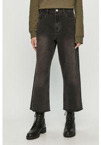 Szare jeansy loose fit Brave Soul z podwyższonym stanem