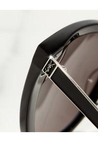 SAINT LAURENT - Czarne okulary przeciwsłoneczne. Kolor: czarny. Materiał: materiał