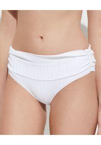 Melissa Odabash - MELISSA ODABASH - Biały dół od bikini Bel Air. Stan: podwyższony. Kolor: biały. Materiał: tkanina, materiał, prążkowany