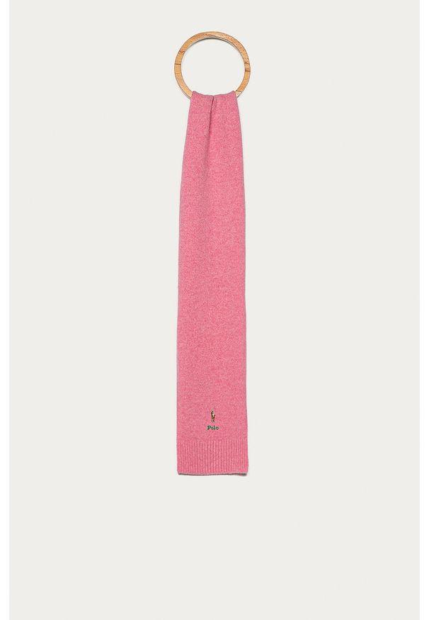 Różowy szalik Polo Ralph Lauren