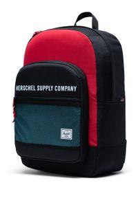 Czarny plecak Herschel z nadrukiem
